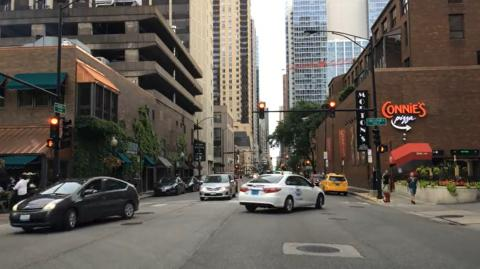 Driving Downtown - Chicago State Street
